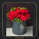 24 Rosas en base redonda
